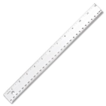 "12""/30cm CLEAR RULERS SHATTER-PROOF CLEAR PLASTIC RULER - SINGLE"